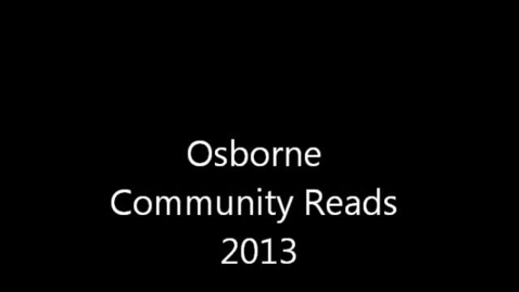 Thumbnail for entry  Osborne Community Reads Group Response