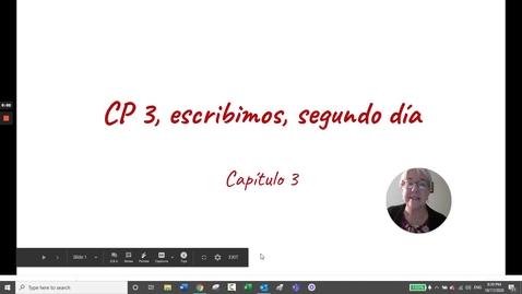 Thumbnail for entry CP 3 ESCRIBIMOS MARTES