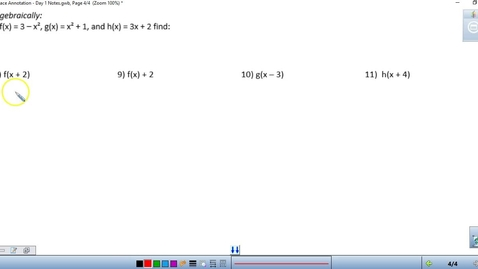 Thumbnail for entry Math 3 Unit 1 Day 1 End of Notes