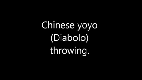 Thumbnail for entry Chinese yoyo or Diabolo demonstration 1