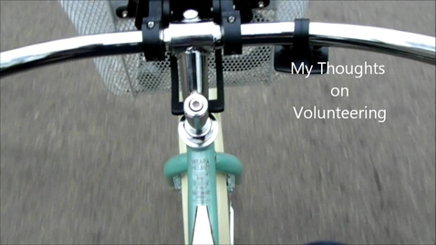 Thumbnail for entry Volunteer Bike Ride Ponderings