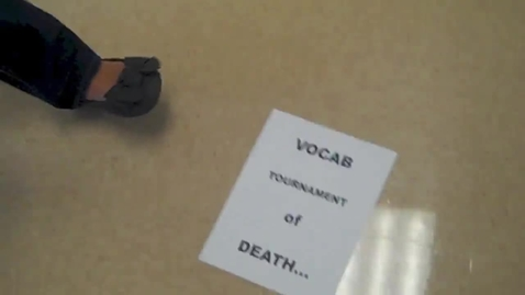 Thumbnail for entry The Vocab Tournament of Death