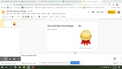 Thumbnail for entry Directions for the Boy Scout Badge Slide.webm