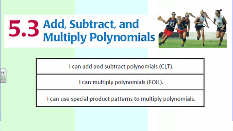 Thumbnail for entry Add Subtract Multiply Polynomials