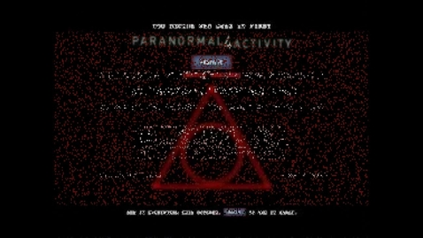Thumbnail for entry Paranormal Activity Trailer