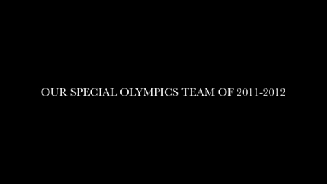 Thumbnail for entry Fall 2011 BBHS Special Olympics Video