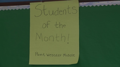 Thumbnail for entry Point Webster students of the Month for December 2015