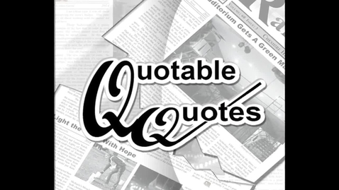 Thumbnail for entry Quoteable Quotes - food combinations