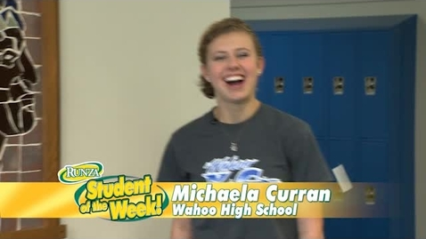 Thumbnail for entry Congratulations Michaela: Runza's Student of the Week!