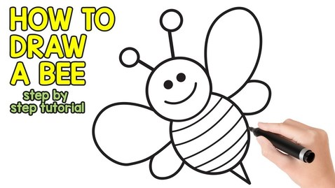 Thumbnail for entry How to Draw a Bee Step by Step Drawing Tutorial