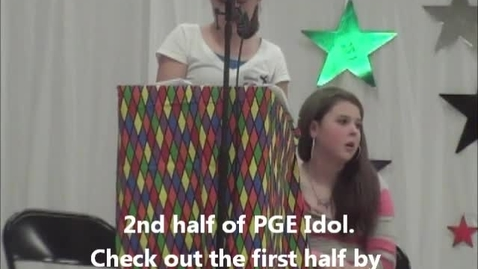 Thumbnail for entry PGE Idol (2nd Half)