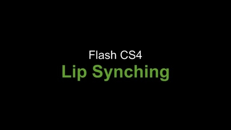 Thumbnail for entry Flash Lip Synching