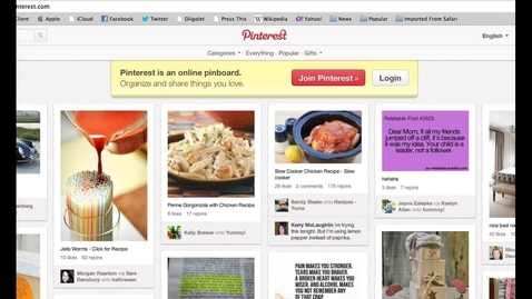 Thumbnail for entry Pinning Concepts with Pinterest