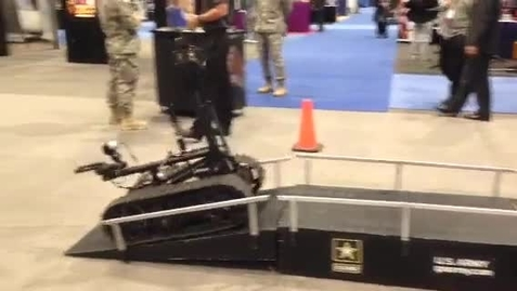 Thumbnail for entry U.S. Army Robot Demo - ACTE Convention 2013