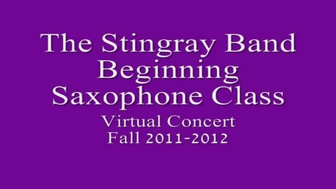 Thumbnail for entry 2nd Period Beg. Saxophone Class