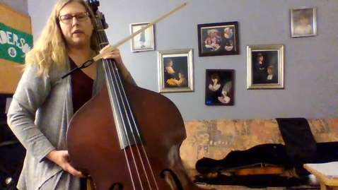 Thumbnail for entry Bass Scales and Open Strings for 6th and 8th grade