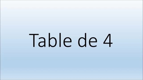 Thumbnail for entry Addition  Table de 4