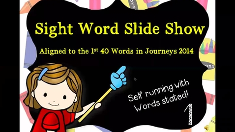 Thumbnail for entry sight words