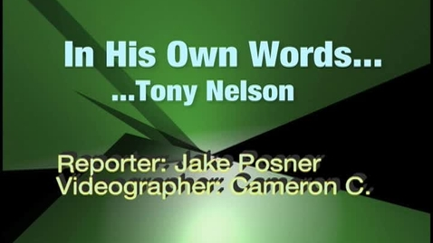 Thumbnail for entry Tony's Story