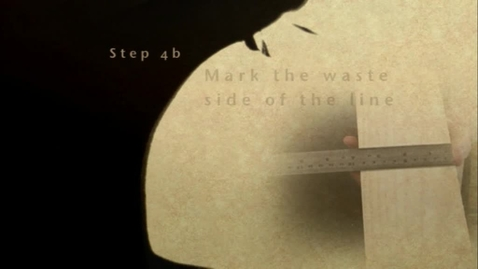 Thumbnail for entry Cutting Wood to Length Part 4B - Mark the Waste side of the Line