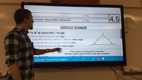 Thumbnail for entry Isosceles and Equilateral Triangles