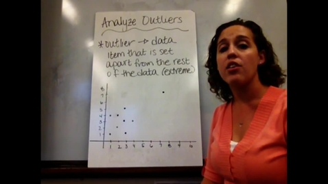 Thumbnail for entry Pre-Alg - Sect 6-3AB Outliers/Clustering