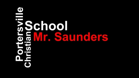 Thumbnail for entry Mr. Saunders, PCS #npm2013