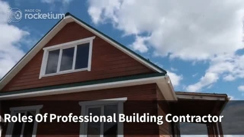 Thumbnail for entry Roles Of Professional Building Contractor