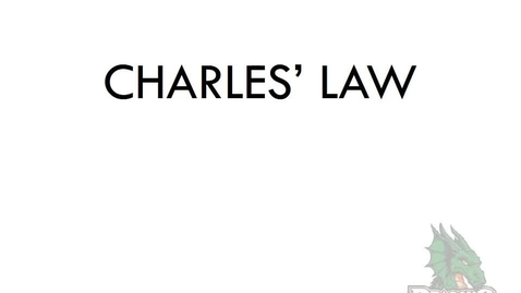 Thumbnail for entry Charles Law