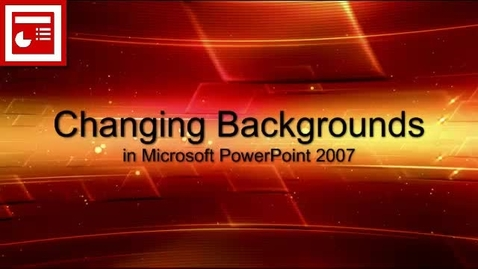 Thumbnail for entry PowerPoint changing backgrounds