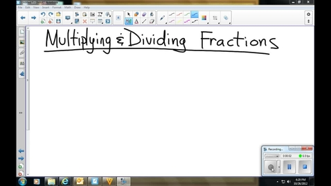 Thumbnail for entry Multiplying and Dividing Fractions and Mixed Numbers