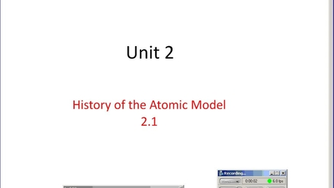 Thumbnail for entry Stephens Pre-AP Chemistry: Atomic Theory