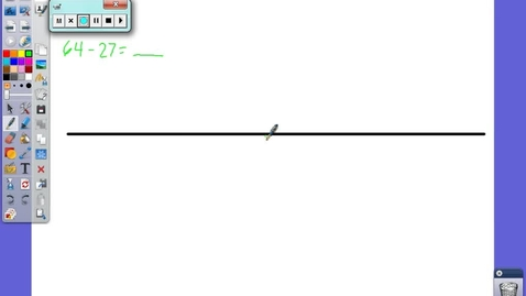 Thumbnail for entry Subtracting On a Number Line