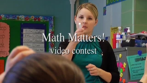 Thumbnail for entry Math Matters! video contest