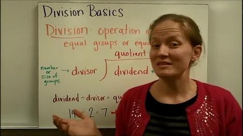 Thumbnail for entry Division Basics