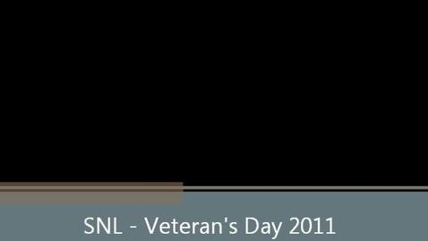 Thumbnail for entry SNL Veterans Day