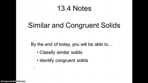Thumbnail for entry Similar and Congruent Solids