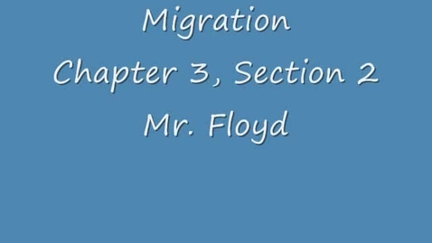 Thumbnail for entry Migration and Urbanization