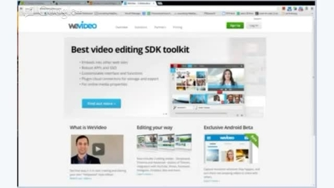 Thumbnail for entry WeVideo - Logging In