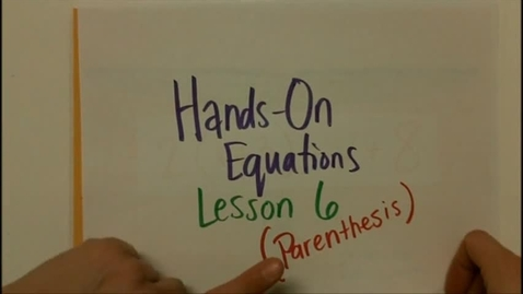 Thumbnail for entry Hands On Equations 6