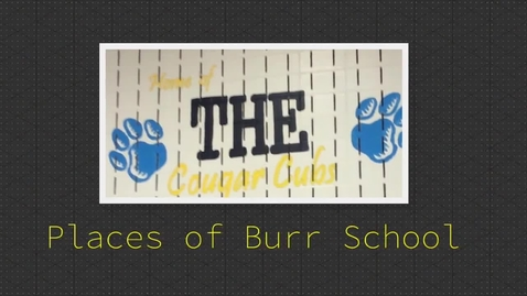 Thumbnail for entry Places of Burr