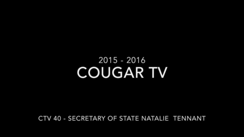 Thumbnail for entry Capital High School 2015 - 2016 Cougar TV Show 40