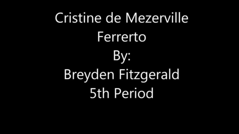 Thumbnail for entry Cristine de Mezerville Ferrerto - Engineer