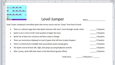 Thumbnail for entry Level Jumper Intro (Scratch)