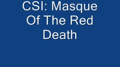 Thumbnail for entry The Masque of the Red Death - 3rd Hr Group 3