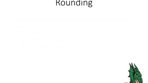 Thumbnail for entry Rounding and Scientific Notation
