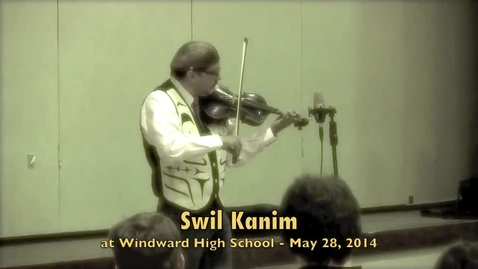 Thumbnail for entry Swil Kanim talks to Windward High School students