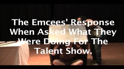 Thumbnail for entry talent show PSA