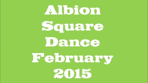Thumbnail for entry Albion 3rd Grade Square Dance 2015