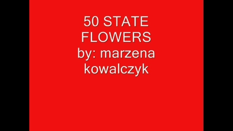 Thumbnail for entry State Flowers